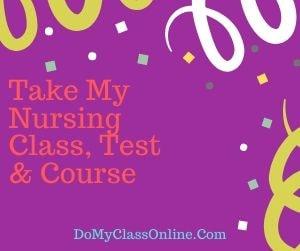 Take My Nursing Class, Test & Course
